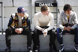 Daniel Abt, Lotus GP with Conor Daly, Lotus GP and Carlos Sainz Jr, Lotus GP