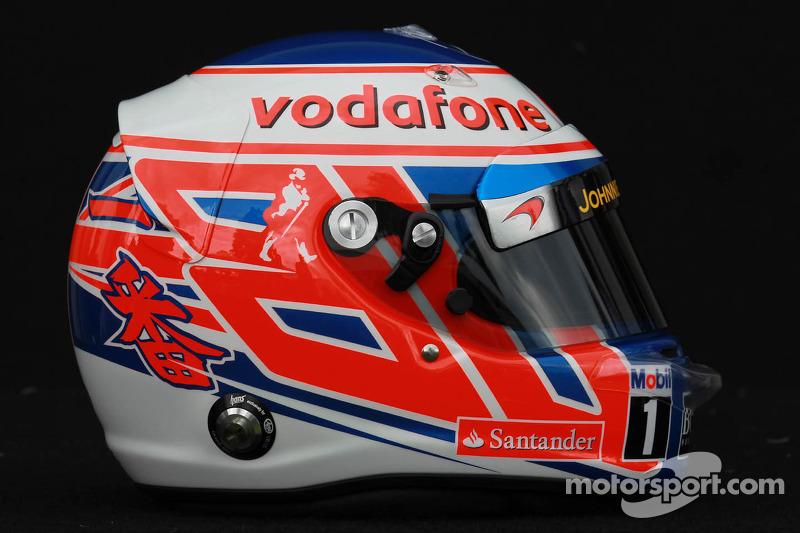 Jenson Button, McLaren Mercedes helm