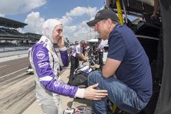 Zach Veach, A.J. Foyt Enterprises Chevrolet with father Roger Veach