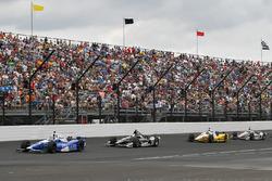 Takuma Sato, Andretti Autosport Honda, Josef Newgarden, Team Penske Chevrolet