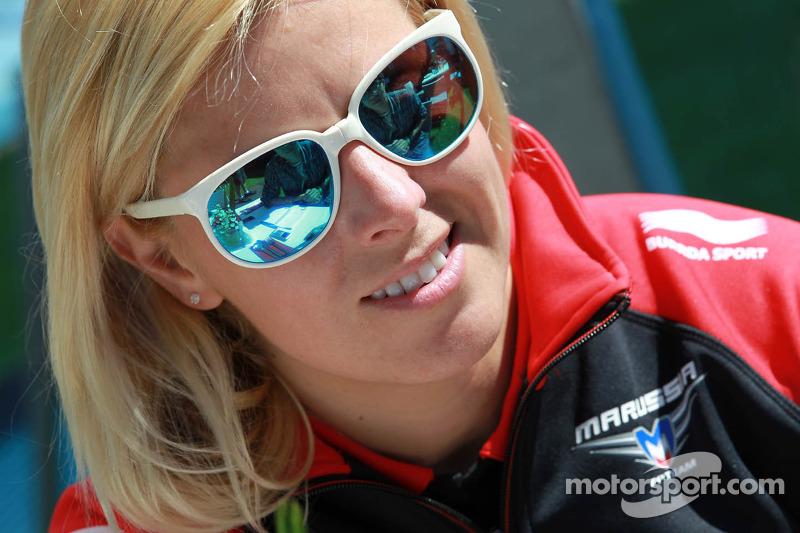 März 2012: Maria de Villota wird Testfahrerin beim Formel-1-Team Marussia
