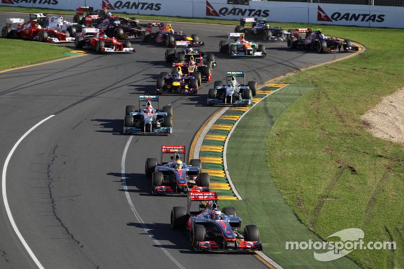 Start of the race, Jenson Button, McLaren Mercedes