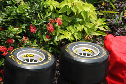 Pirelli tyres with the flowers