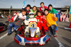 Go-kart charity event: Post-race celebrations