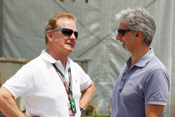 Jonathan Palmer, with Damon Hill, Sky Sports Presenter