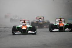 Paul di Resta, Sahara Force India and team mate Nico Hulkenberg, Sahara Force India F1