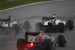 Bruno Senna, Williams F1 Team en Kamui Kobayashi, Sauber F1 Team