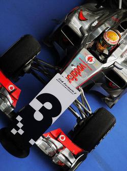 Third placed Lewis Hamilton, McLaren