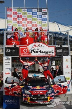 Excluded winners Mikko Hirvonen and Jarmo Lehtinen, Citroën DS3 WRC, Citroën Total World Rally Team