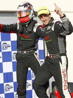 Race winners Mathias Beche, Pierre Thiriet