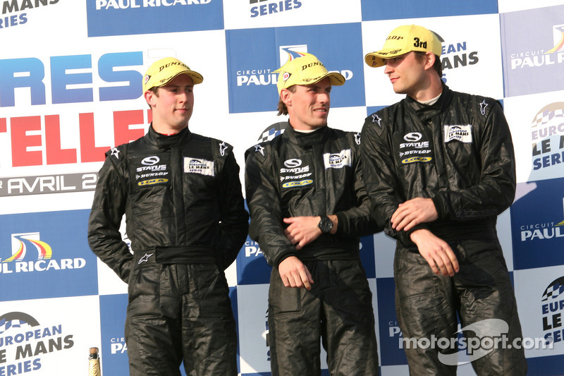 P2 podium: third place Yelmer Buurman, Alexander Sims, Dean Stirling