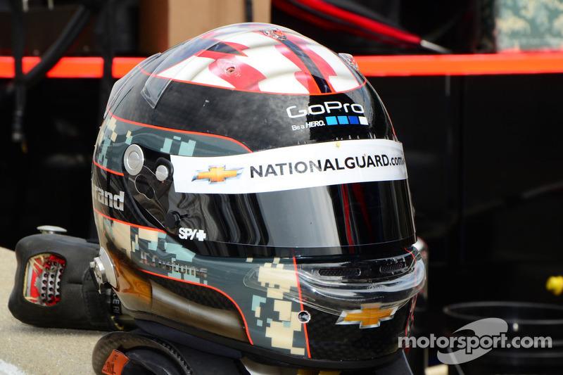 Helm van J.R. Hildebrand, Panther Racing Chevrolet