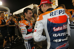 Second place Dani Pedrosa, Repsol Honda Team, third place Casey Stoner, Repsol Honda Team