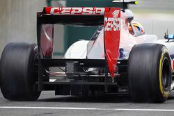 Jean-Eric Vergne, Scuderia Toro Rosso rear diffuser detail