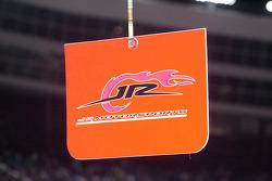 JR Motorsports pit sign