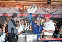 Victory lane: race winner Ricky Stenhouse Jr., Roush Fenway Ford celebrates
