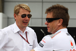 Mika Hakkinen with Dr. Aki Hintsa, McLaren Team Doctor