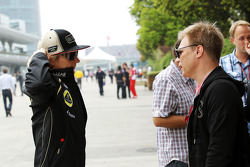 Kimi Raikkonen, Lotus F1 Team with Mika Salo