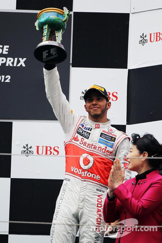 Podium: third place Lewis Hamilton, McLaren