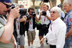 Bernie Ecclestone, CEO Formula One Group met media
