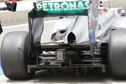 Michael Schumacher, Mercedes AMG F1 rear diffuser detail