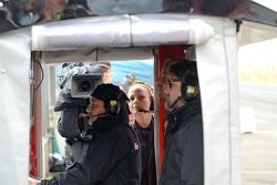 GT1 TV reporter Hailey Coxon