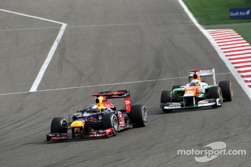 Sebastian Vettel, Red Bull Racing en Paul di Resta, Sahara Force India Formula One Team