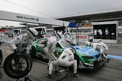 Pitstop Augusto Farfus Jr., BMW Team RBM BMW M3 DTM
