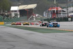Sideways, #59 Luxury Racing Ferrari 458 Italia: Frederic Makowiecki, Jaime Melo