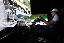 Lance Stroll, Williams drives a lap of the Circuit Gilles Villeneuve on a simulator