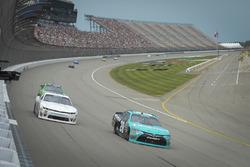 Denny Hamlin, Joe Gibbs Racing Toyota, Brandon Brown, King Autosport Chevrolet