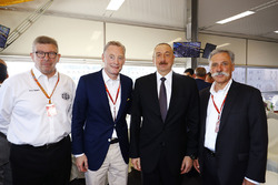 Ross Brawn, Managing Director of Motorsports, FOM, Sean Bratches, Managing Director of Commercial Operations, Formula One Group, the Azerbaijan President Ilham Aliyev, Chase Carey, Chairman, Formula One