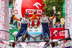WRC3-Podium: 1. Nil Solans, Miquel Ibanez, Ford Fiesta R2