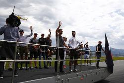 Max Verstappen, Red Bull Racing, Stoffel Vandoorne, McLaren, Esteban Ocon, Force India, Kevin Magnussen, Haas F1 Team, Romain Grosjean, Haas F1 Team, Nico Hulkenberg, Renault Sport F1 Team, Daniel Ricciardo, Red Bull Racing, Felipe Massa, Williams en Valtteri Bottas, Mercedes AMG F1
