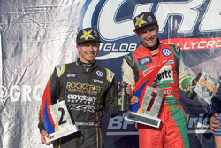 Podium: race winner Scott Speed, Volkswagen, second place Tanner Foust, Volkswagen