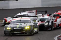 #8 Toyota Gazoo Racing Toyota TS050 Hybrid: Anthony Davidson, Sébastien Buemi, Kazuki Nakajima, #95 Aston Martin Racing Aston Martin Vantage: Nicki Thiim, Marco Sorensen