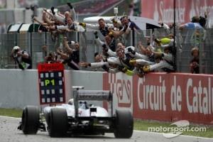 Race winner Pastor Maldonado, Williams F1 Team