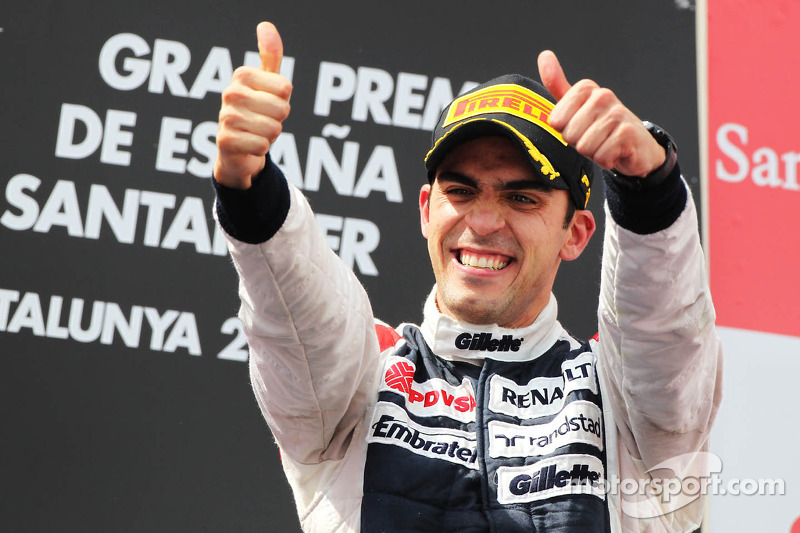 Ganador de la carrera Pastor Maldonado, Williams F1 Team celebra en el podio