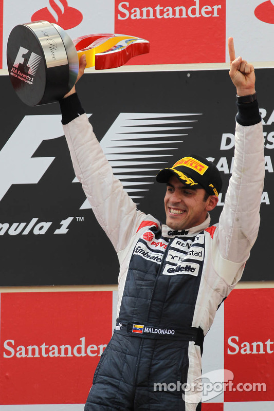 Primer lugar Pastor Maldonado, Williams F1 Team
