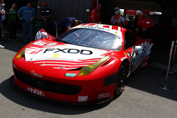 #69 Aim Autosport Team Fxdd Racing With Ferrari 458 heading out to pit lane.