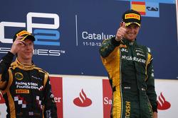 Podium: race winner Giedo van der Garde, second place James Calado
