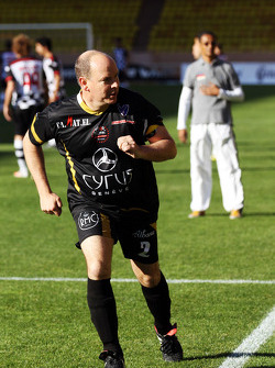 Prince Albert II during the charity football match