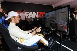 Dani Clos, HRT Formula One Team Test Driver at the Fanzone