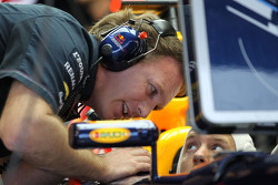 Christian Horner, Red Bull Racing Team Principal with Sebastian Vettel, Red Bull Racing