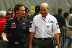 Christian Horner, Red Bull Racing Team Principal with Peter Sauber, Sauber Team Principal
