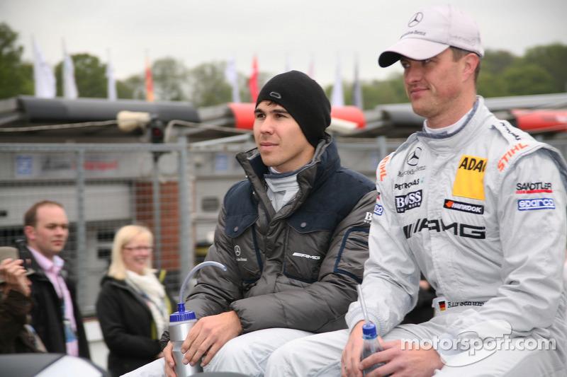 Robert Wickens, Mücke Motorsport AMG Mercedes C-Coupe, Ralf Schumacher, Team HWA AMG Mercedes, AMG Mercedes C-Coupe