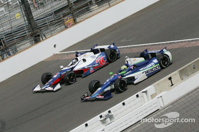 Marco Andretti, Andretti Autosport Chevrolet and Tony Kanaan, KV Racing Technology Chevrolet