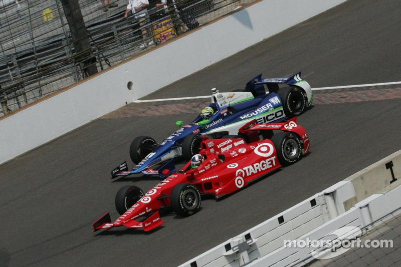 Dario Franchitti, Target Chip Ganassi Honda, Tony Kanaan, KV Racing Technology Chevrolet