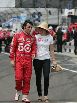 Dario Franchitti, Target Chip Ganassi Racing Honda and Ashley Judd