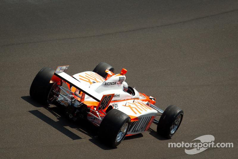Bryan Herta makes a lap with Dan Wheldon's 2011 Indy 500 winning car